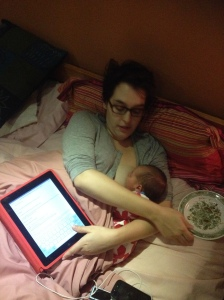 Put down the iPad woman. Put. It. Down.