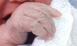 These are my sons hands on the day of his birth. His actual hands.