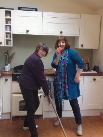 Team Granny!  I was lucky enough to have my own personal cleaning service.