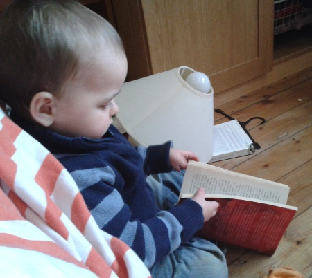 Bubs is on an advanced reading programme.