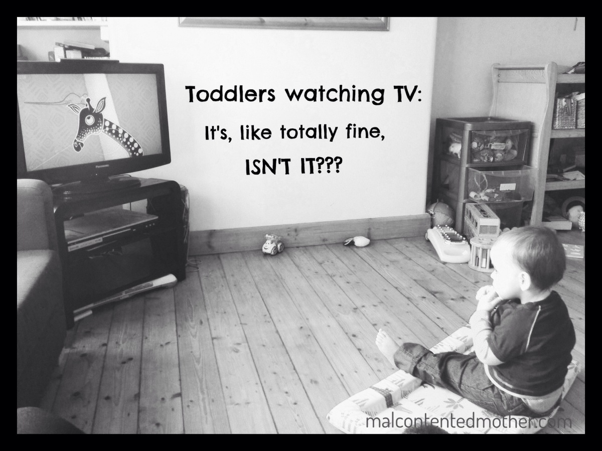Toddlers watching TV: It's, like, totally fine, isn't it??